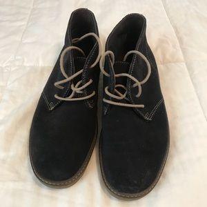 J&M Blue Suede Chukka Boots (Worn Twice)
